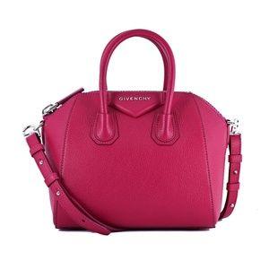New Mini Givenchy Antigona Pink Leather Satchel